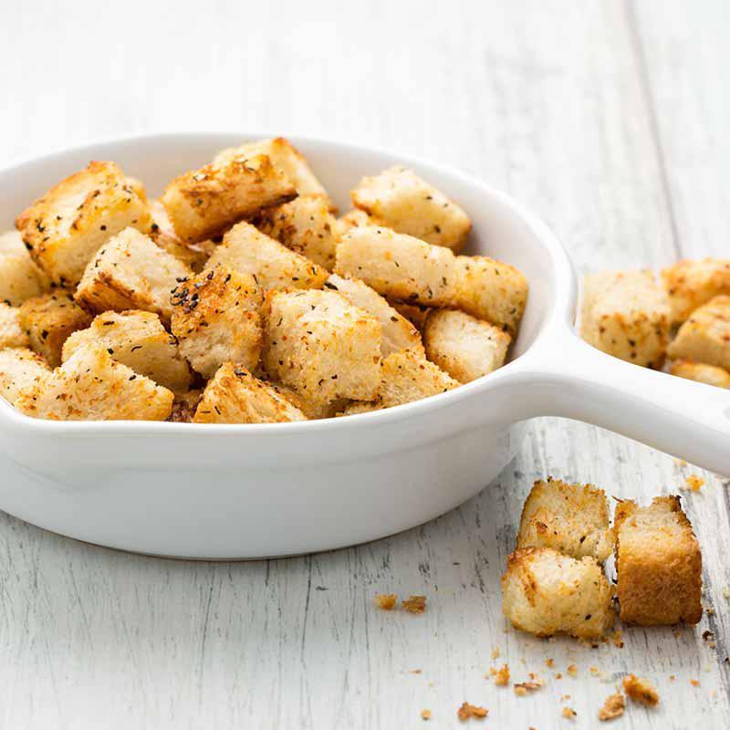 5 délicieuses variations de croûtons à base de pain rassis